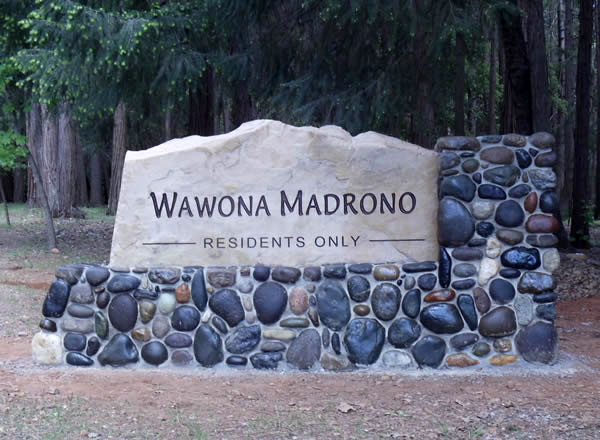 Entry monument sign for Wowona Morono HOA