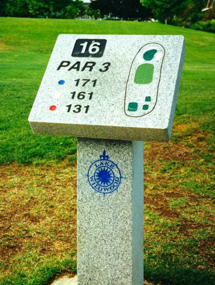 Golf Course Yard Marker Signs Stonehenge Signs Inc