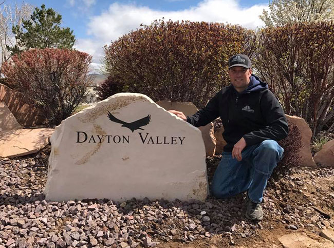 Natural Sandstone sign for Daytone Valley golf course