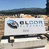 Polished stone sign for business